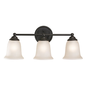 Thomas Sudbury 3 Light Vanity In Oil Rubbed Bronze