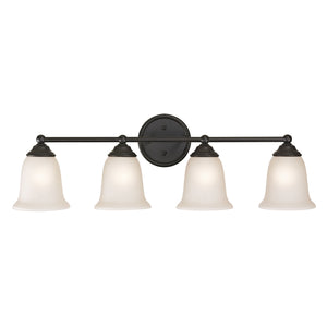 Thomas Sudbury 4 Light Vanity In Oil Rubbed Bronze
