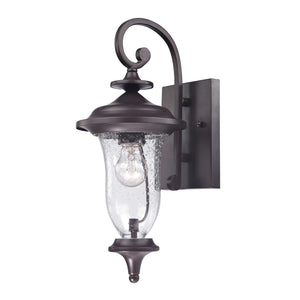Thomas Trinity 1 Light Outdoor Wall Sconce In Oil Rubbed Bronze