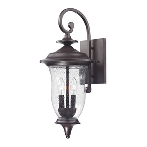 Thomas Trinity 2 Light Outdoor Wall Sconce In Oil Rubbed Bronze