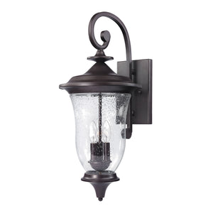 Thomas Trinity 3 Light Outdoor Wall Sconce In Oil Rubbed Bronze