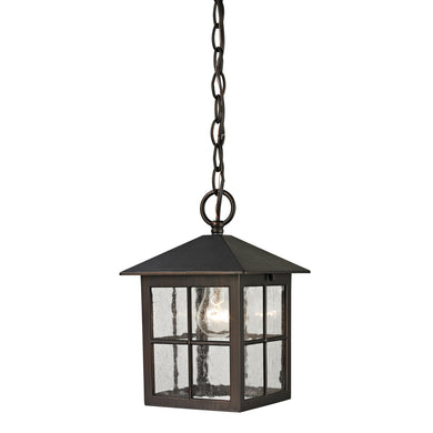 Thomas Shaker Heights 1 Light Outdoor Pendant In Hazelnut Bronze