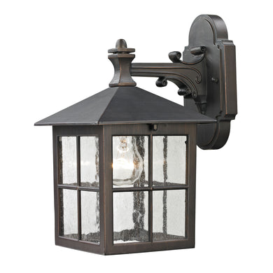 Thomas Shaker Heights 1 Light Outdoor Wall Sconce In Hazelnut Bronze