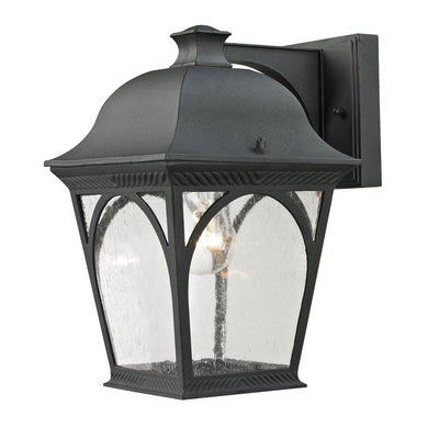 Thomas Cape Ann 1 Light Outdoor Wall Sconce In Matte Textured Black