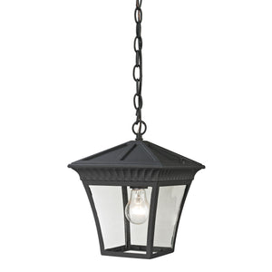 Thomas Ridgewood 1 Light Outdoor Pendant In Matte Textured Black
