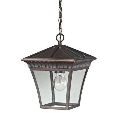 Thomas Ridgewood 1 Light Outdoor Pendant In Hazelnut Bronze