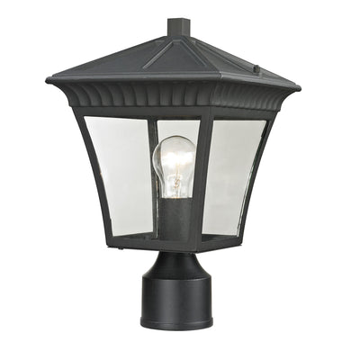 Thomas Ridgewood 1 Light Outdoor Post Lamp In Matte Textured Black