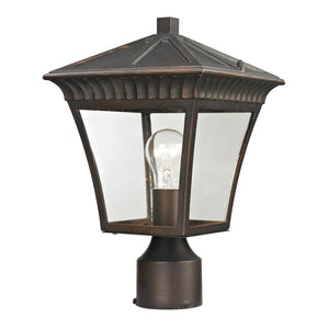 Thomas Ridgewood 1 Light Outdoor Post Lamp In Hazelnut Bronze