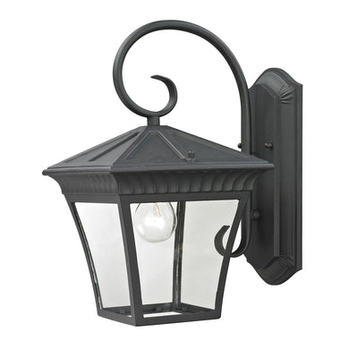 Thomas Ridgewood 1 Light Outdoor Wall Sconce In Matte Textured Black