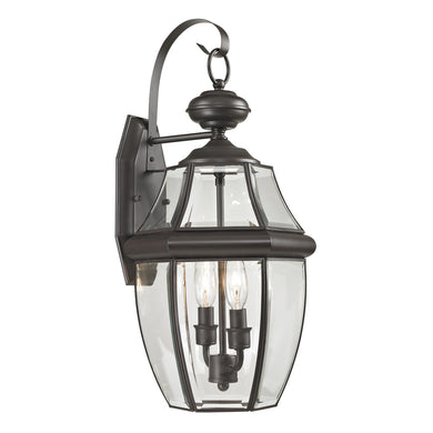 Thomas Ashford 2 Light Outdoor Wall Sconce In Oil Rubbed Bronze