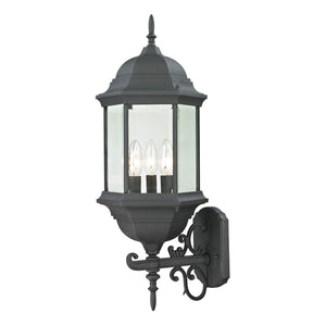 Thomas Spring Lake 3 Light Outdoor Wall Sconce In Matte Textured Black