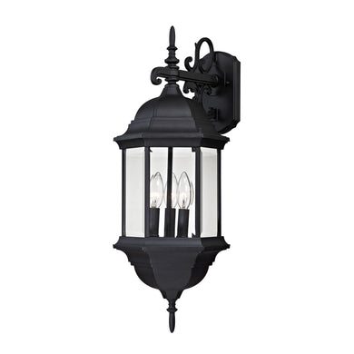 Thomas Spring Lake 3 Light Outdoor Wall Sconce In Matte Black