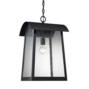 Thomas Prince Street 1 Light Outdoor Pendant In Matte Black