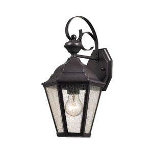 Thomas Cotswold 1 Light Outdoor Wall Sconce In Oil Rubbed Bronze
