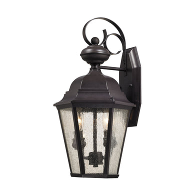 Thomas Cotswold 2 Light Outdoor Wall Sconce In Oil Rubbed Bronze