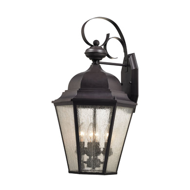 Thomas Cotswold 4 Light Outdoor Wall Sconce In Oil Rubbed Bronze