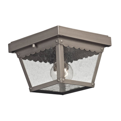Thomas Springfield 2 Light Outdoor Flushmount In Dark Pewter