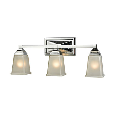 Thomas Sinclair 3 Light Bath In Polished Chrome With Frosted Glass