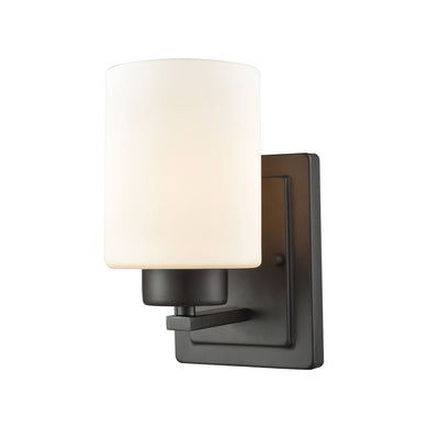 Thomas Summit Place 1 Light Bath In Oil Rubbed Bronze With Opal White Glass