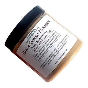 Black Strap Molasses Deep Conditioner Infused w/ Agave Nectar Coconut Oil Healthy Hair Care Fragrance Free - Nurcreation