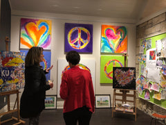 Sold a peace sign that night!  20% goes to Mark Arts.