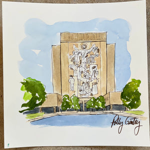 "Hesburgh Library ""Touchdown Jesus"" - Notre Dame"