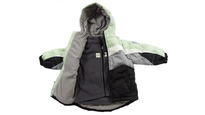 The Quimby Coat Children's Car Seat Coat - Leaf - 2 in 1 Winter Jacket & Vest for Safety When Travelling in The Car