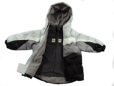 The Quimby Coat Children's Car Seat Coat - Black Ice - 2 in 1 Winter Jacket & Vest for Safety When Travelling in The Car