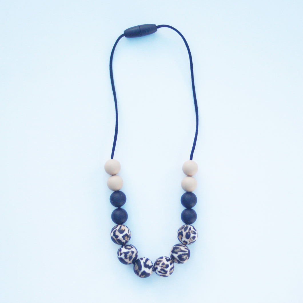 Beige Leopard Necklace