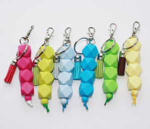 Hexagon and Tassel Key Chain