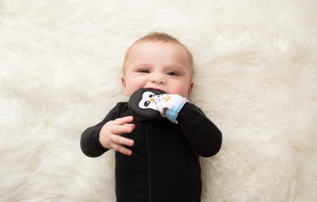 Penguin Teething Sensory Mitten