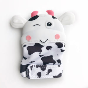 Cow Teething Sensory Mitten