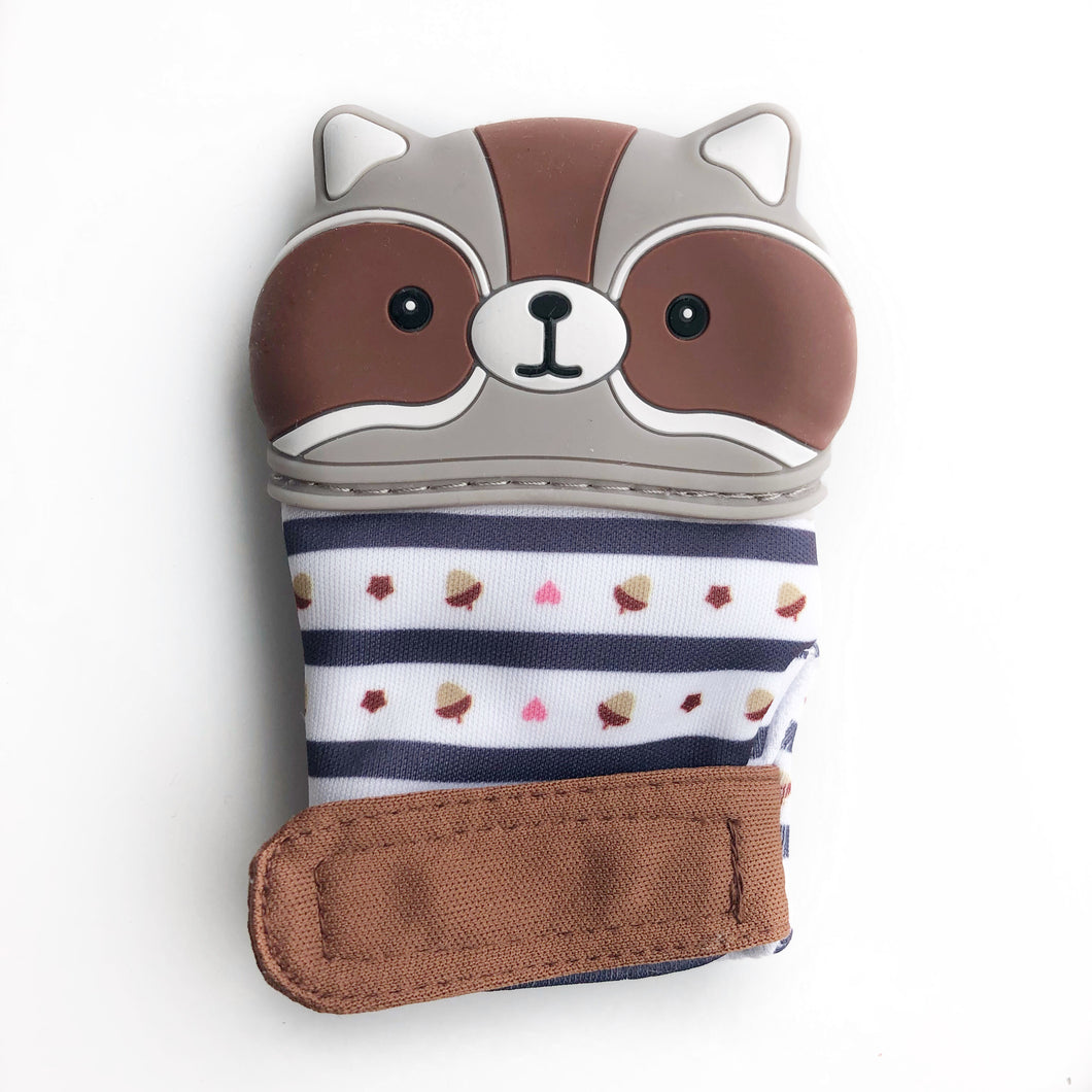 Raccoon Teething Sensory Mitten