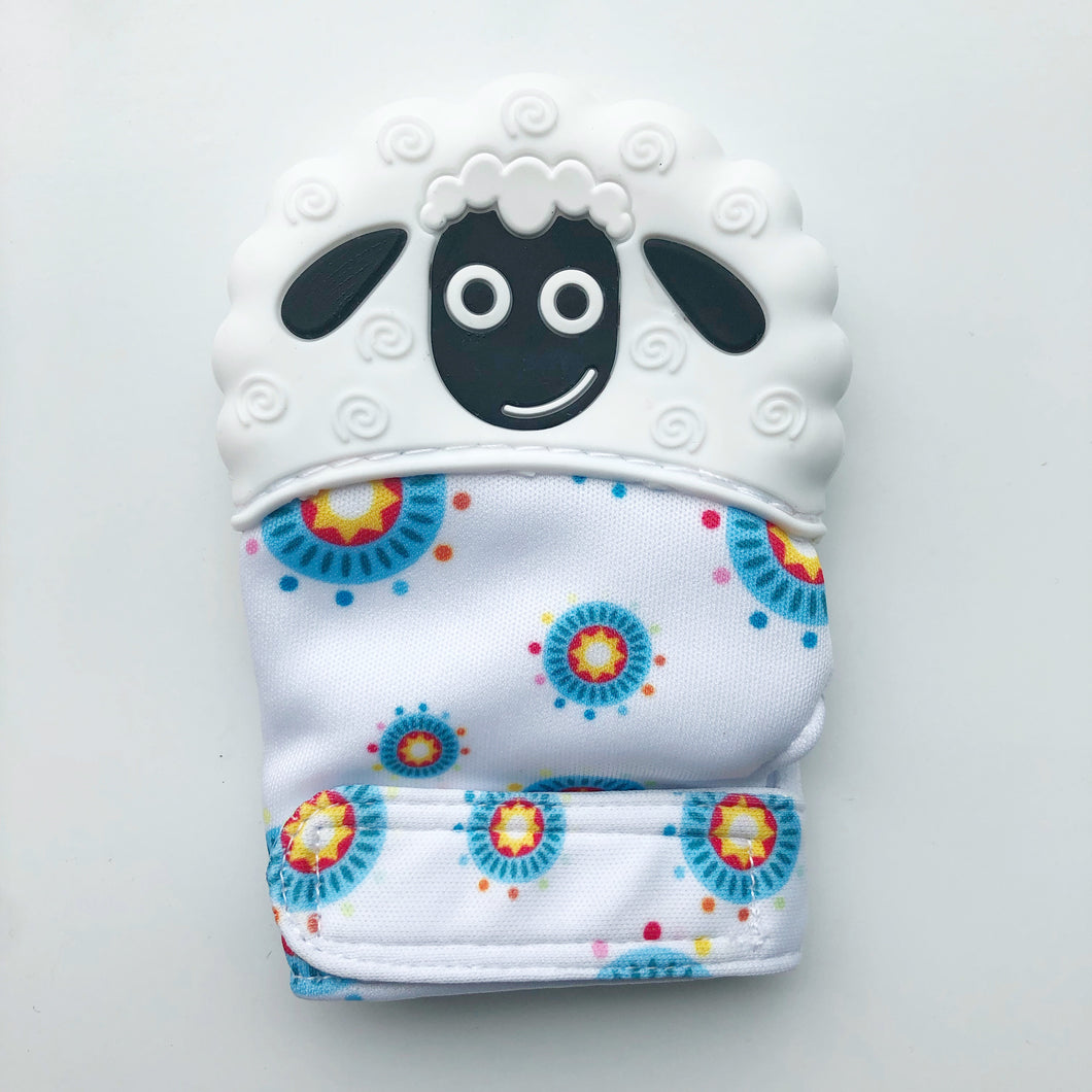 Sheep Teething Sensory Mitten
