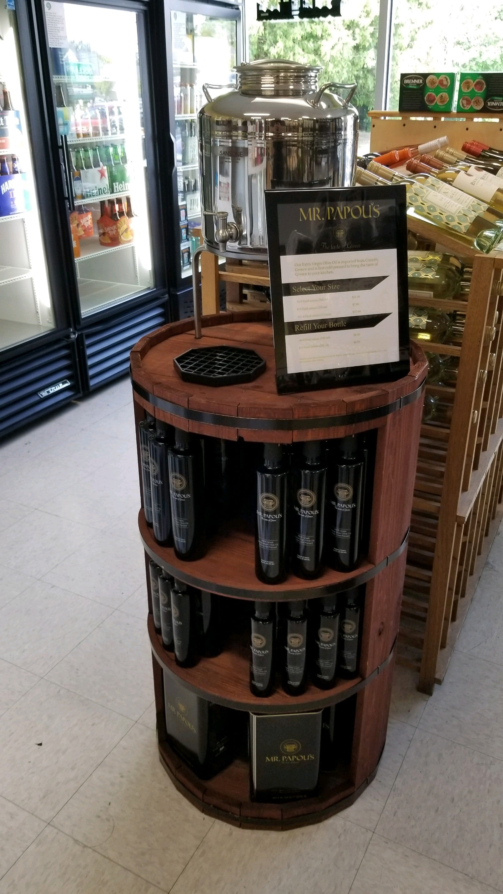 Mr. Papou's Barrel Display