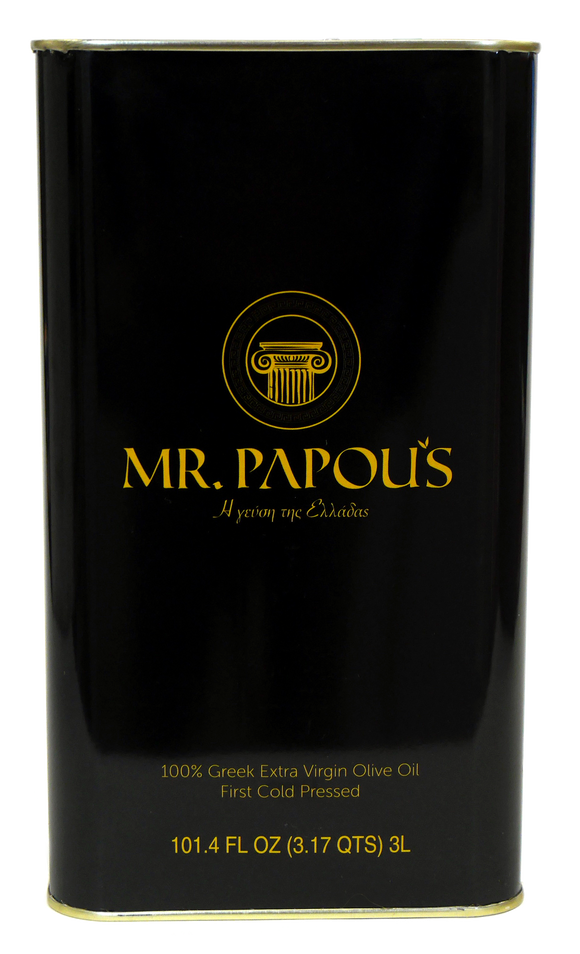 Mr. Papou's | 3 Liter - 101.4 fl oz | Extra Virgin Olive Oil