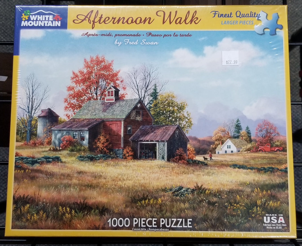 Afternoon Walk - White Mountain Puzzle