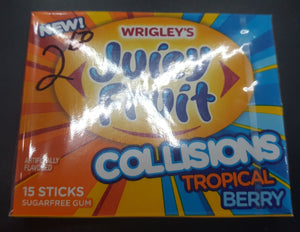Wrigley's Juicy Fruit Collisions Tropical Berry. Sugar Free