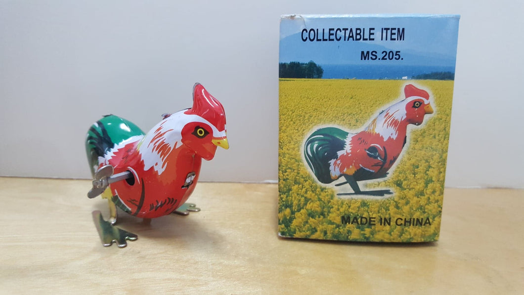Vintage Collectable Hopping Tin Rooster
