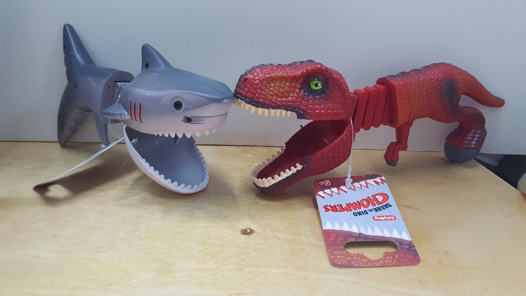 Shark VS Dinosaur Chompers