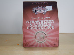 Ultimate English Strawberry & Vanilla Coconut Ice Fudge