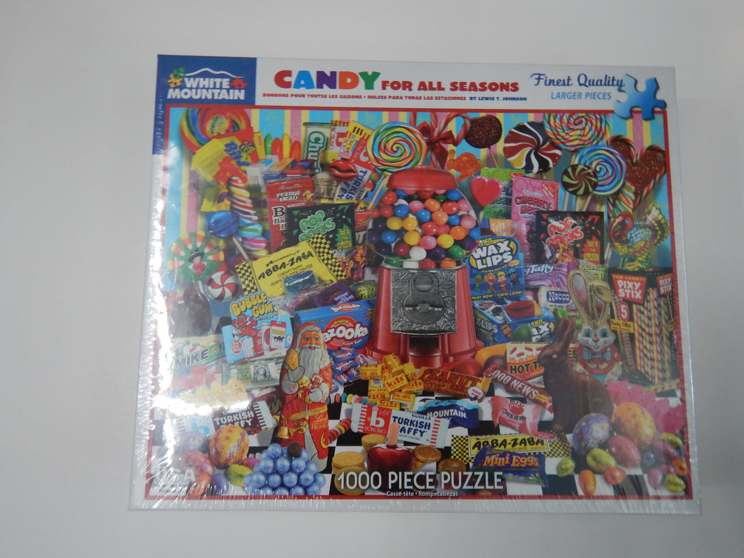 Candy For All Seasons - White Mountain Puzzle