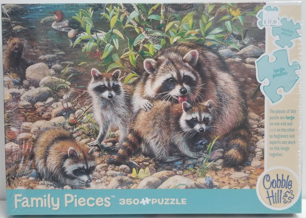 Raccoon Family - Cobble Hill Puzzle