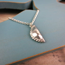pewter Cornish pasty pendant on silver plated chain