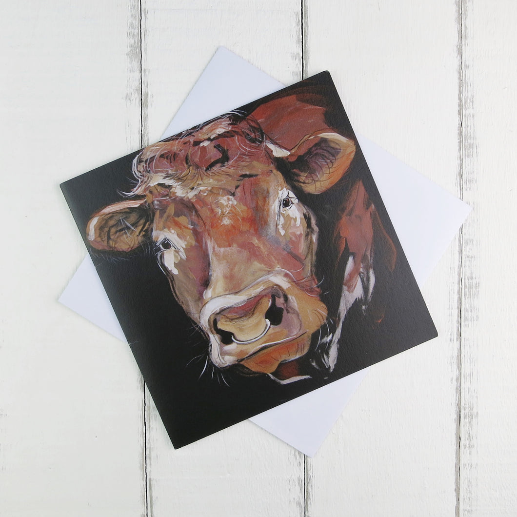 Bull greetings card by Caroline Walker