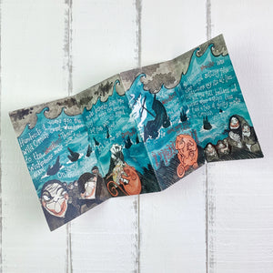 Illustrated Cornish Wreckers story card opened out
