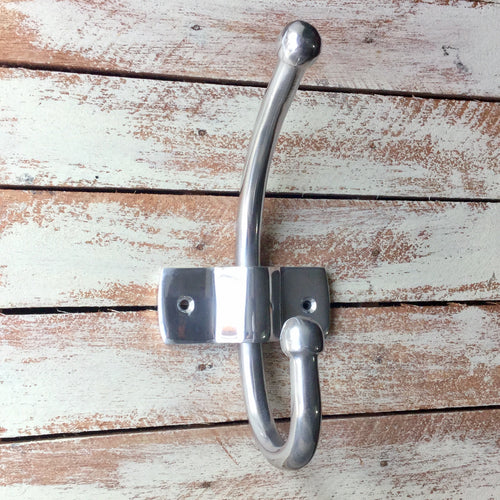 Larger style metal coat hook.