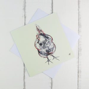 Chicken Card by Caroline Walker - Blank Inside