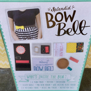 Back of box showing contents of you need to make your own Bow Belt