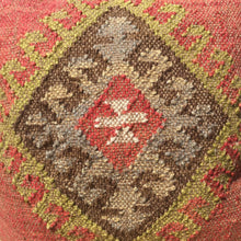 Close up of front of Kilim cushion